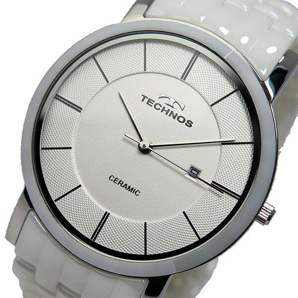 テクノス TECHNOS 腕時計 メンズ T9365TW セラミック クオーツ