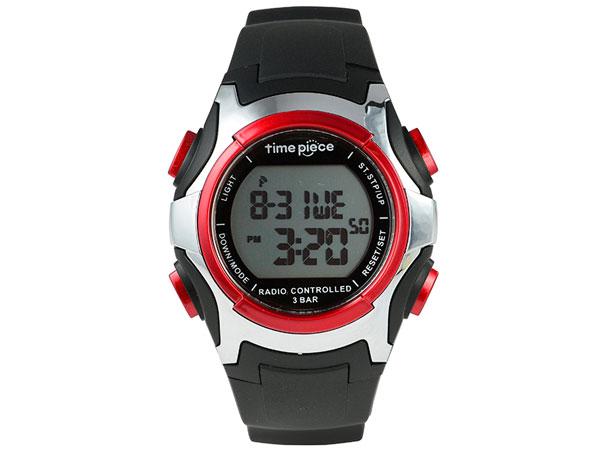 タイムピース 腕時計 電波時計 ソーラー 電波ソーラー デジタル TPW-001RD
