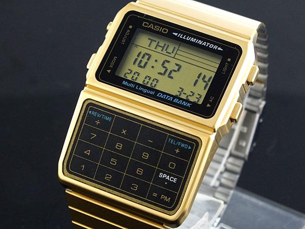 カシオ CASIO データバンク DATA BANK 腕時計 DBC-611G-1 メンズ レディース ゴールド ブレスレット