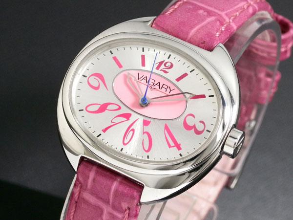 バガリー VAGARY クオーツ レディース 腕時計 IQ0-510-10 ピンク レザーベルト