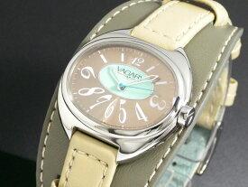 バガリー VAGARY クオーツ レディース 腕時計 IQ0-510-92 ベージュ×オリーブ レザーベルト