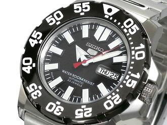 Self-winding watch men watch SNZF51J1 black X silver metal belt made in SEIKO 5 SEIKO 5 SPORTS reimportation Japan