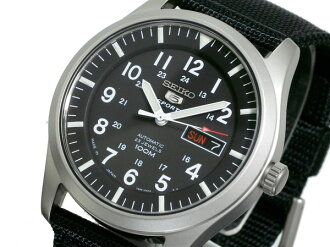 Self-winding watch men watch SNZG15J1 black nylon belt made in SEIKO SEIKO 5 SPORTS sports reimportation Japan