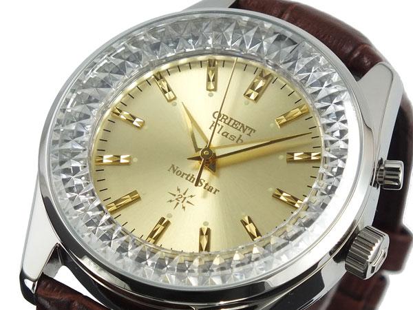オリエント ORIENT ノーススター 復刻モデル 手巻き メンズ 腕時計 URL002DL ゴールド×ブラウン レザーベルト