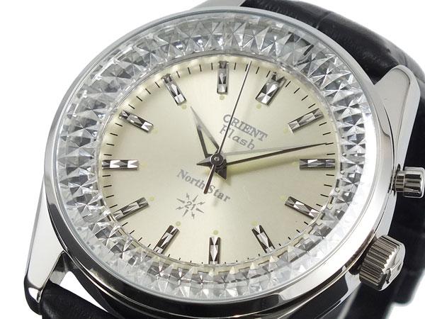 オリエント ORIENT ノーススター 復刻モデル 手巻き 腕時計 URL003DL シャンパン×ブラック レザーベルト
