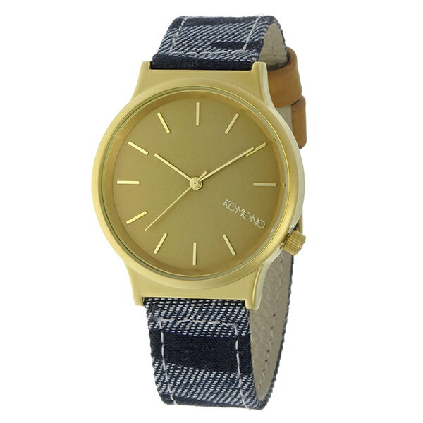 コモノ KOMONO Wizard Print-Denim Zebra クオーツ レディース 腕時計 KOM-W1817 マットゴールド