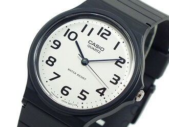 Casio CASIO basic reimportation quartz men watch MQ-24-7B2L white X black men