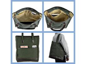 鞄の國 帆布シリーズ メンズ ユニセックス トートバッグ 帆布 53414 カーキ