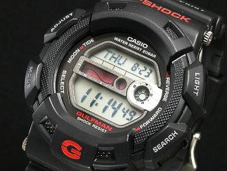 卡西欧卡西欧 G 冲击 g 冲击反向 gulfman 观看 G-9100-1 男装黑色橡胶带