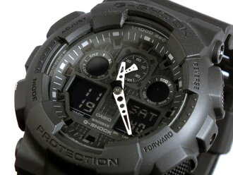 Casio CASIO G-Shock G-SHOCK アナデジメンズ watch GA-100-1A1 black rubber belt