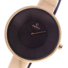 オバク OBAKU クオーツ ユニセックス 腕時計 V149LXVNMN ブラウン