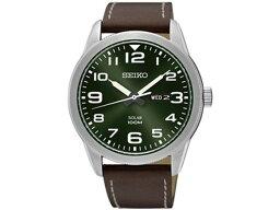 精工SEIKO太陽能SOLAR人海外型號手錶SNE473P1皮革皮帶