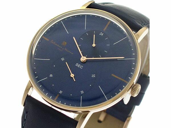 サルバトーレマーラ SALVATORE MARRA クオーツ メンズ 腕時計 SM18103-PGBL ネイビー/ネイビー