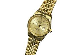 エルジン ELGIN 腕時計 デラックスDATE クオーツ メンズ FK1422G-G ゴールド