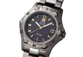 エルジン ELGIN 腕時計 チタンソーラー ダイバーズ メンズ FK1423TI-B