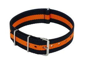 スマートターンアウト SMART TURNOUT 腕時計用 替えベルト PRIN-55-18 オレンジ×ブラック ナイロンベルト