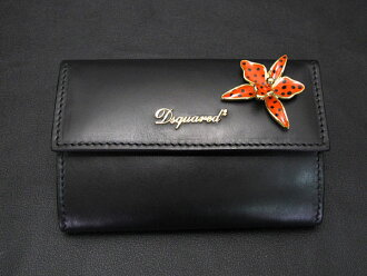 DSQUARED2ディースクエアードSNAP WALLET SW5001 015 BLACK