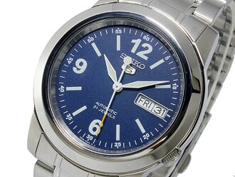 SEIKO 5 SEIKO 5 reimportation self-winding watch men watch SNKE61K1 blue X silver metal belt