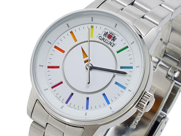 オリエント ORIENT 自動巻き レディース 腕時計 WV0011NB ホワイト×マルチカラー メタルベルト ブレスレット