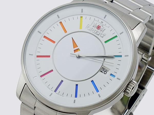 オリエント ORIENT 日本製 自動巻き メンズ 腕時計 WV0821ER ホワイト×マルチカラー メタルベルト