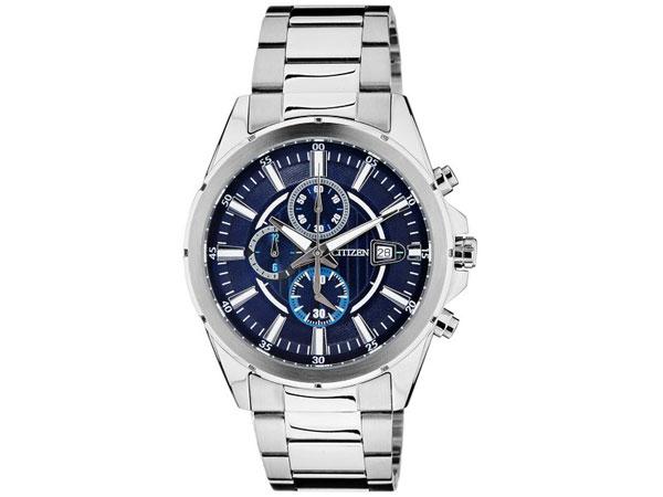 シチズン CITIZEN クロノ クオーツ メンズ 腕時計 AN3560-51L ネイビー
