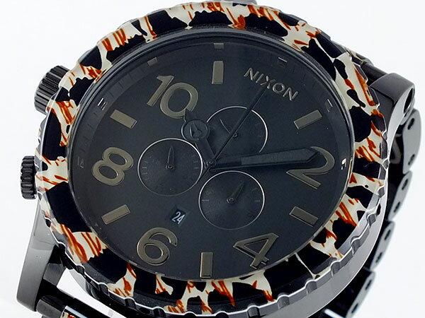 ニクソン NIXON フィフティーワンサーティー 51-30 クロノグラフ メンズ 腕時計 A083-1153 豹柄×ブラック メタルベルト
