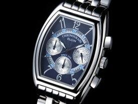 エルジン ELGIN トノー 腕時計 クロノグラフ メンズ FK1403S-BL ブルー