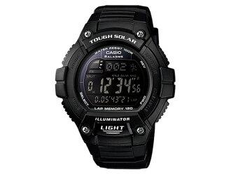 카시오 CASIO 스포츠 디지털 터프 솔 러 손목시계 W-S220-1B