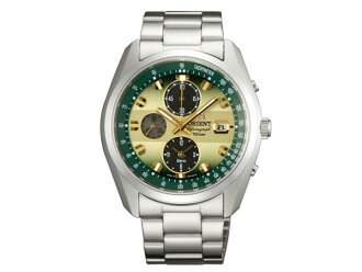 Orient ORIENT Neo 70's solar chronograph alarm mens WV0021TY green / silver metal belt