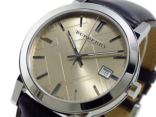 バーバリー BURBERRY スイス製 クオーツ メンズ 腕時計 BU9011 シャンパンゴールド×ブラウン レザーベルト