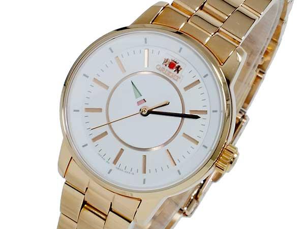 オリエント ORIENT 自動巻き レディース 腕時計 WV0021NB ホワイト×ピンクゴールド メタルベルト