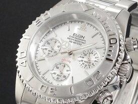 エルジン ELGIN ダイバーズ 腕時計 クロノグラフ メンズ FK1120S シルバー メタルベルト