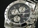 エルジン ELGIN ダイバーズ 腕時計 クロノグラフ メンズ FK1184S-B ブラック×シルバー メタルベルト