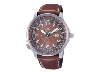 Citizen CITIZEN overseas model ProMaster Nighthawk eco drive GMT mens watch BJ7017-17 W leather