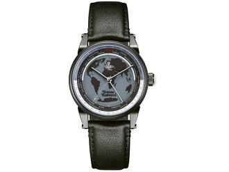 비비안웨스트웃드 VIVIENNE WESTWOOD 핀즈베리멘즈 손목시계 VV065MBKBK 월드 타임