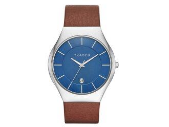 スカーゲン SKAGEN 시계 여성용 SKW6160 블루 가죽 벨트
