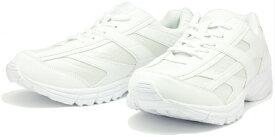 【今だけ送料無料!】スニーカー ヒモ スクール レディース ホワイト 白 白靴 幅広 3E 婦人 靴 シューズ 学生 通学 通勤 ウォーキング ランニング HL-5148WH