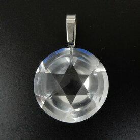 作品 ビックサイズ プラチナ900(Pt900) 水晶六芒星 ペンダント ヘッド