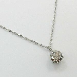 三本爪 プラチナ(Pt900)ライトブラウンダイヤモンド(0.3ct) SIクラス ペンダントネックレス【送料無料】【即納(4日前後発送)】