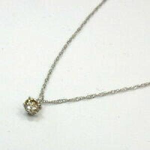 0.15カラット SI2 プラチナ(PT900)ライトブラウンダイヤモンド0.15ctペンダントネックレス(スクリューチェーン42センチ)送料無料