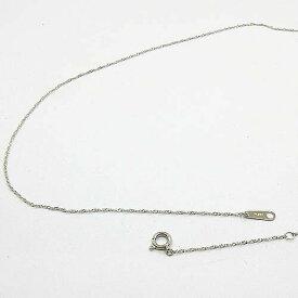 スクリューチェーン 4日前後可プラチナ850(Pt850) ネックレス(幅0.6mm 長さ40cm)プレート3ミリ ゆうパケット発送は送料無料です