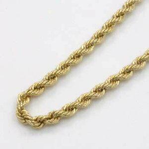 18金ゴールド(K18)ロープチェーン(幅2mm長さ17cm)一週間前後 プレゼント