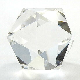 クリスタル 職人作品 正20面体 水晶110ct送料無料