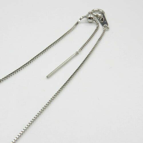 長さ60センチ 0.7ミリ幅プラチナ(Pt850) スライドピンベネチアン チェーン ネックレス 小穴Top用長さ調節可能(幅0.7mm・長さ60cm)送料無料