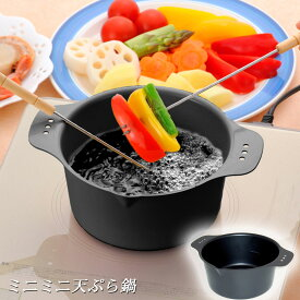 鍋 天ぷら お弁当 ミニミニ天ぷら鍋 お弁当のおかずやちょっとした揚げ物に便利♪