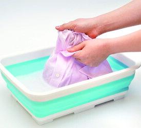 洗濯桶 角型 たためる コンパクト 手洗い つけ置き洗い