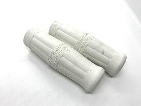 樽 グリップ 白 ロング ハーレー ナックル サイドバルブ パン ショベル ロゴ入り インナースロットル 補強入り