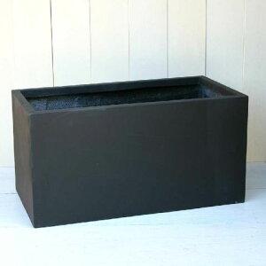 植木鉢 おしゃれ 大型 プラスチック 軽い BLキンロス M(コンテナ)<FRP 80cm ブラック 黒 穴あり 横長 長方形 四角 繊維強化 軽量 樹脂 プランター 鉢 特大 大きめ ガーデニング 屋外 鉢植え 園芸