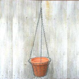 植木鉢 おしゃれ ブリキ 素焼き バスケット吊鉢(LO06)<20cm ハンギング ポット スチール 陶器鉢 コベントガーデン プランター 鉢 ガーデニング 室内 植え替え 鉢植え 園芸 観葉植物 多肉植物 塊根植物 ワイヤープランツ サボテン DIY エクステリア 人気 父の日>