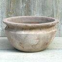 植木鉢 おしゃれ テラコッタ テラアストラベガローS< 28cm 9号 底穴あり ベージュ ブラウン 白 浅鉢 浅い 寄せ植え …